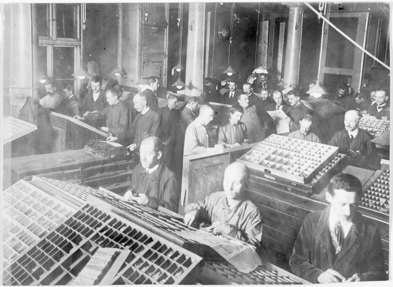 Imprimerie du journal allemand de Varsovie