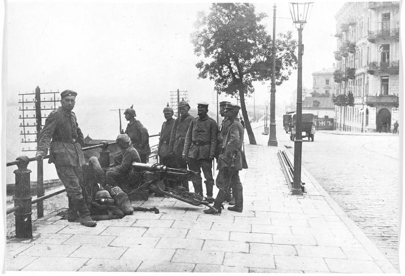 Mitrailleurs allemands sur la Vistule