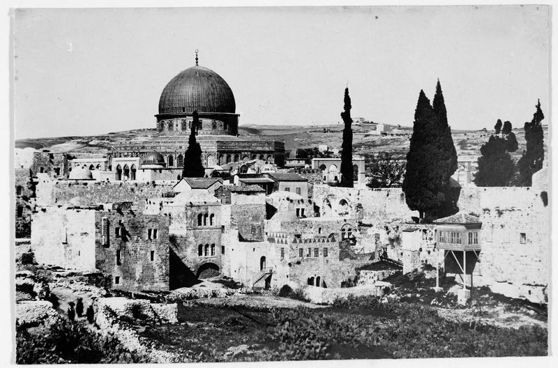 Vue d'ensemble avec la mosquée Al-Aqsa
