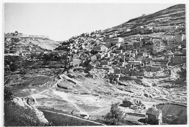 La vallée de Siloa près de Jérusalem