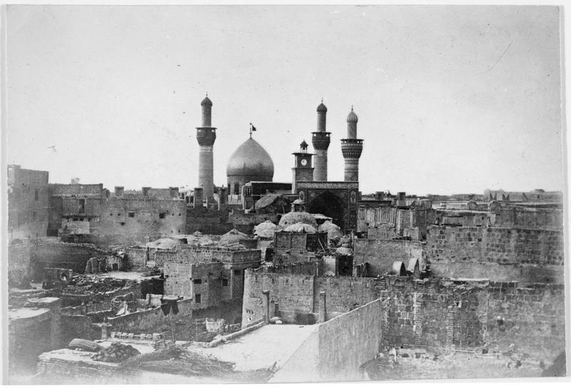 Mosquée d'Ali, lieu saint persan, dont le rôle est important dans la Guerre sainte