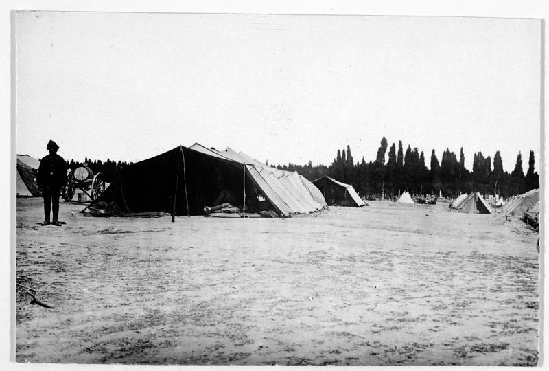 Campement de tentes turc en Asie mineure
