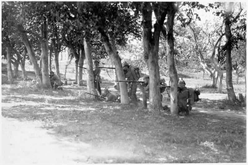 Patrouille d'avant-poste sur le front occidental