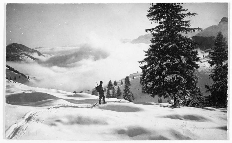 Patrouille allemande dans les Vosges