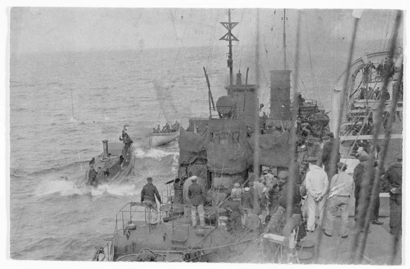 Torpilleur allemand en mer