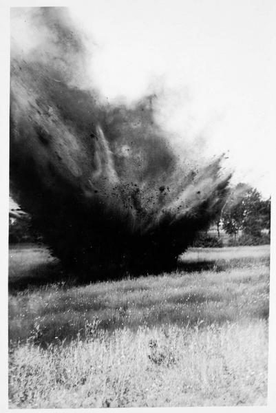 Explosion d'obus en Pologne russe