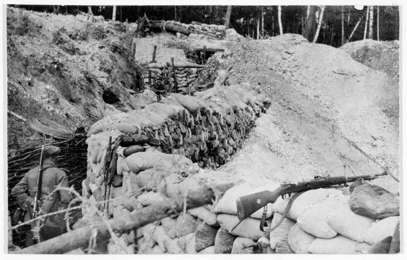 Tranchée allemande sur le front occidental