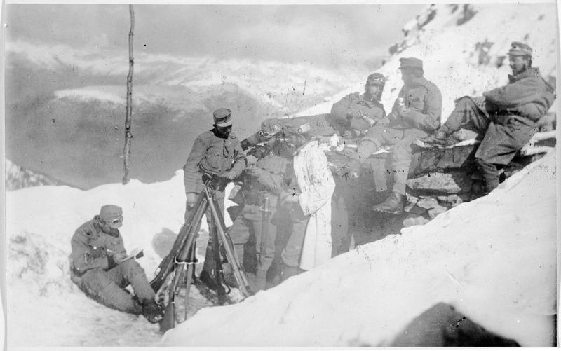 Front italien. Abri austro-hongrois à 2500m d'altitude