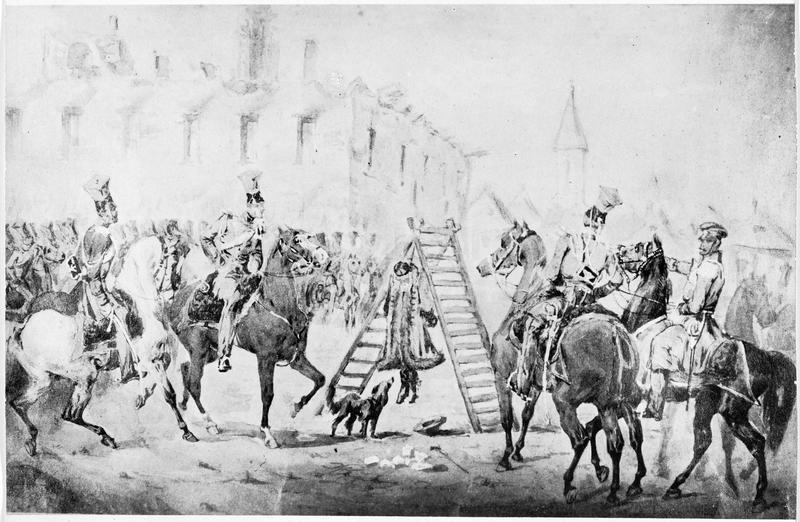 Espion russe pendu. Tableau exposé en 1831 à l'exposition nationale polonaise