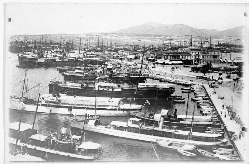 Vue d'ensemble du port