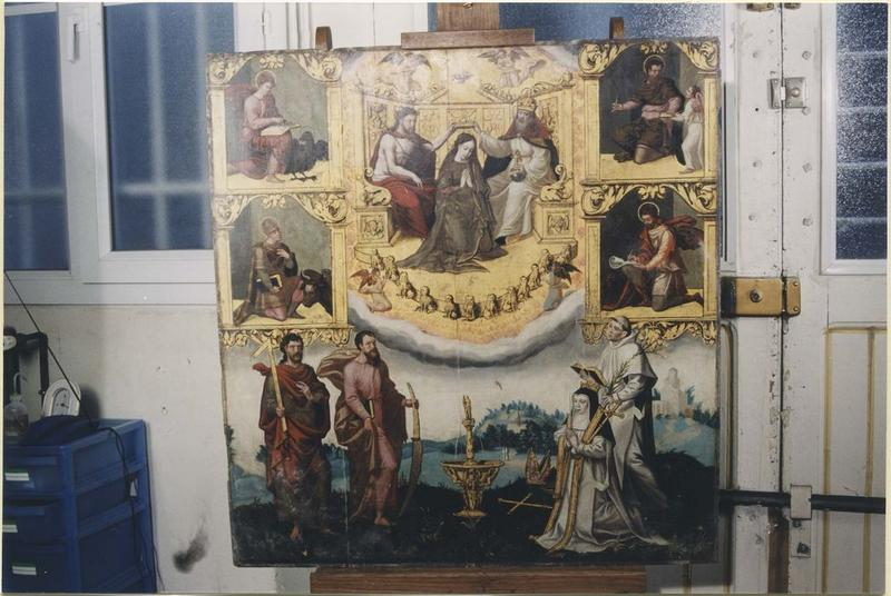 Tableau: Couronnement de la Vierge (le), vue générale