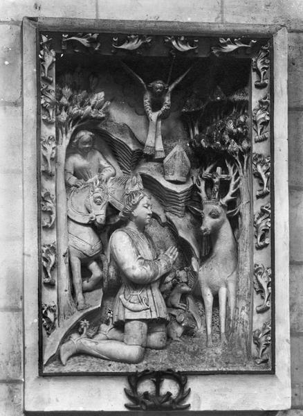 haut-relief : vision de saint Hubert (la)