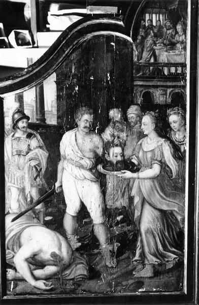 tableau d'un diptyque :La Décollation de saint Jean-Baptiste