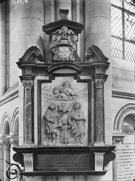 monument funéraire de Jean-Marie de Marnix : sainte famille et la Trinité (la)
