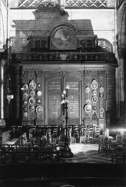 tambour de porte du bras sud du transept et son couronnement