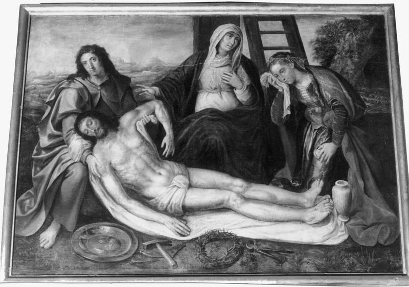 tableau, cadre : déploration du Christ (la)