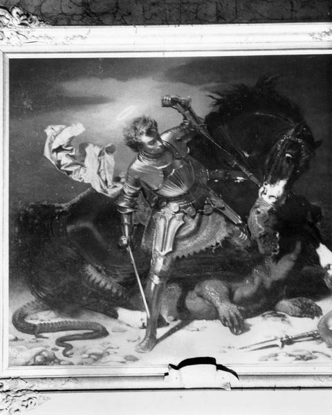 tableau, cadre : saint Georges terrassant le dragon