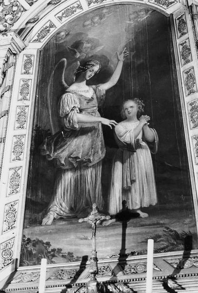 tableau : ange gardien guidant un enfant (l')