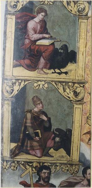 Tableau: Couronnement de la Vierge (le), détail