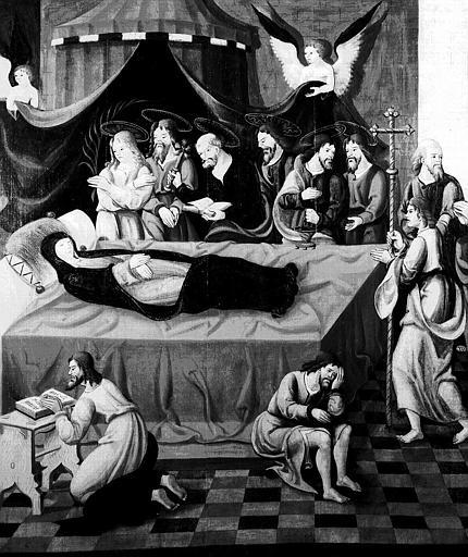 Tableau : la Dormition de la Vierge, la Vierge de l'Annonciation