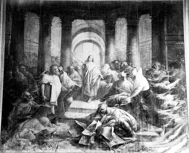 2 tableaux : Jésus au milieu des docteurs, Pentecôte (la)