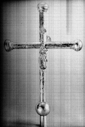 Croix processionnelle en laiton (revers)