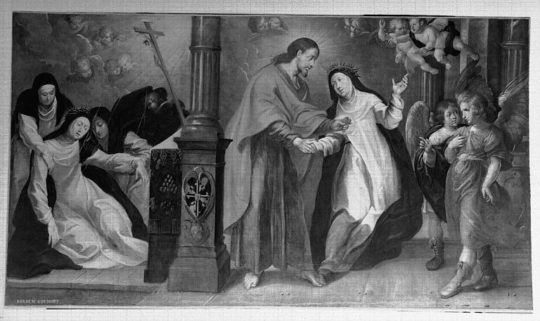 Peinture sur toile : Scènes de la vie de sainte Thérèse d'Avila