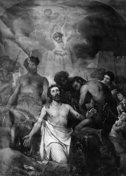 Tableau : le Martyre de saint Piat et de sainte Irénée