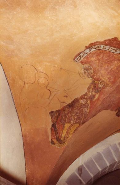 Peintures monumentales du bas-côté nord : scènes de l'enfance du Christ