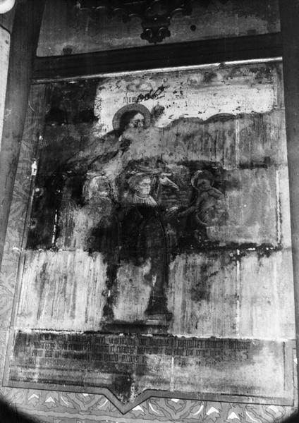 Peinture monumentale de la chapelle Notre-Dame-de-Pitié : saint Thomas