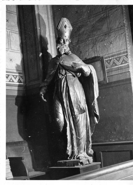 2 statues : saint Jérome et saint Jean Chrysostome