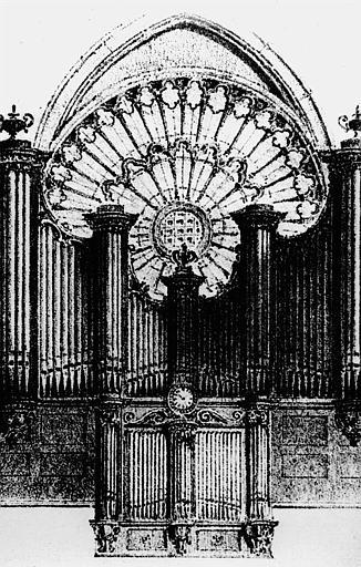 Dessin : Buffet des orgues