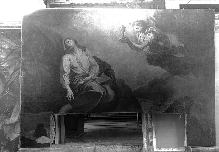 5 tableaux : Résurrection de Lazare, Tentation du Christ, Jardin des oliviers, Madeleine pénitente, baptême de l'eunuque de la reine Candace