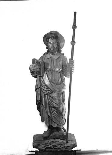 Statue en pierre de saint Jacques le Majeur