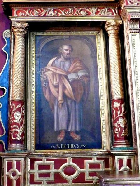 Tableau du retable principal représentant saint Pierre
