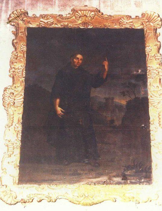 Tableau et son cadre : Saint Jean de Dieu