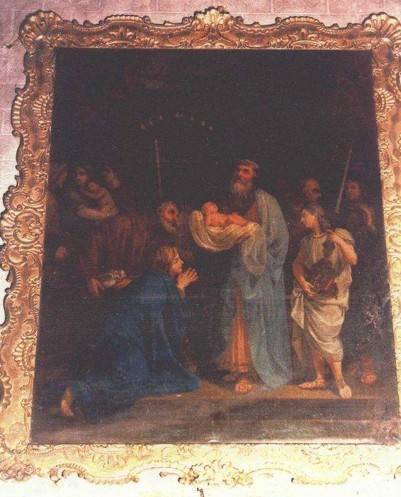 Tableau et son cadre : Présentation au Temple