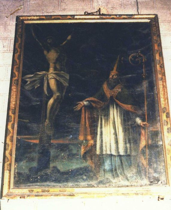 Tableau et son cadre : Crucifixion