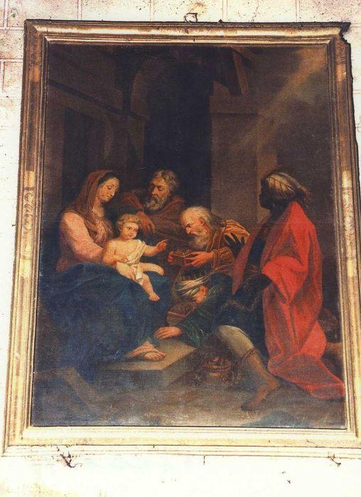Tableau et son cadre : Adoration des Mages