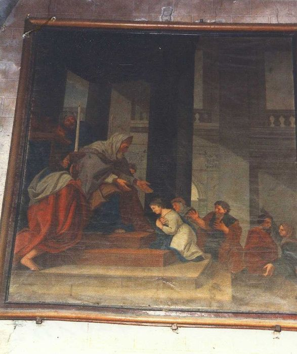 Tableau et son cadre : Présentation de Marie au Temple