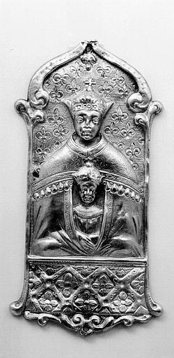 Plaque en argent doré d'une croix processionnelle (déposée)