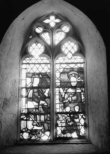Verrières : Sainte Femme auréolée, Sainte Thérèse d'Avila, Homme agenouillé, Donateur