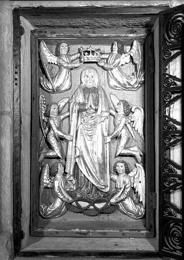 Bas-relief de Notre-Dame des Vertus, en bois