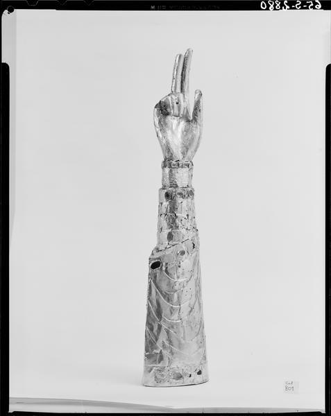 Bras-reliquaire dit le Bras d'Or de sainte Eugénie