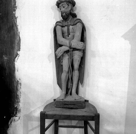 Ecce homo, statue en bois