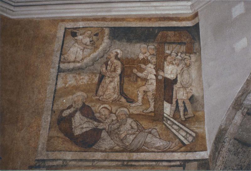 peintures murales, détail