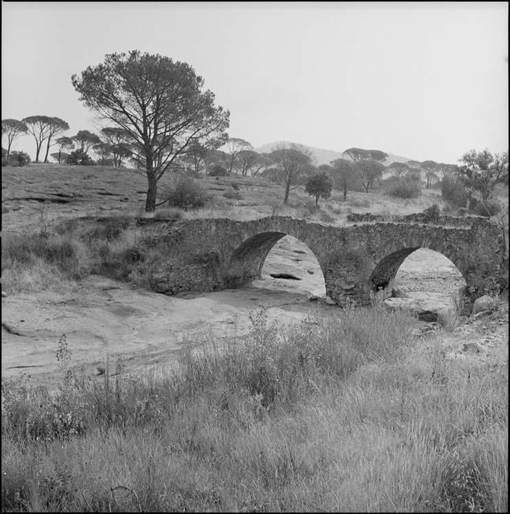 Pont sur cours d'eau à sec