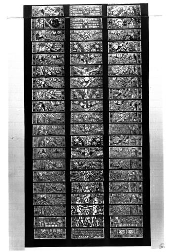 L'Arbre de Vie, baie 17, panneau de vitrail, partie inférieure