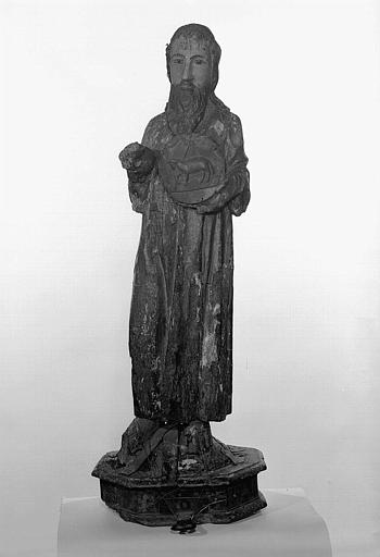 Statue (demi-nature) : saint Jean-Baptiste, dit saint Jean-Baptiste de la Lunade