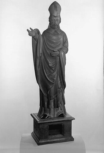 Statue en bois peint de saint Clair de Lectoure